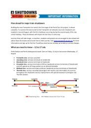 Plan ahead for major train shutdowns What you need to know – 12 ...