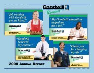 2008 ANNUAL REPORT - Goodwill Southwestern Pennsylvania