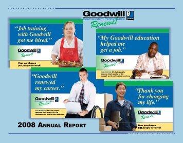 2008 ANNUAL REPORT - Goodwill Southwestern Pennsylvania