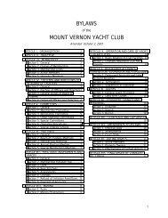 MVYC Bylaws - Mount Vernon Yacht Club