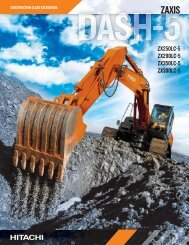 ZX250LC-5 Features and Benefits Brochure - Hitachi