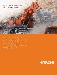 CARACTÉRISTIQUES DE LA EX5500-6 - Hitachi