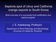 Septoria and exports to South Korea - Citrus Research Board