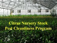 Changes in state quarantine regulations for CTV - Citrus Research ...
