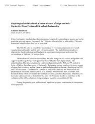 Physiological and Biochemical Determinants of Sugar and Acid ...