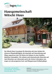 Hausgemeinschaft Witschi Huus - logisplus AG