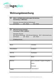 Wohnungsbewerbung Sonnenweg/Hessgut