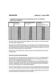 Heimtarife - logisplus AG