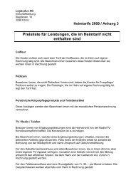 Preisliste für Leistungen, die im Heimtarif nicht ... - logisplus AG