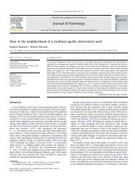 Flow in the neighborhood of a confined aquifer observation ... - CGISS