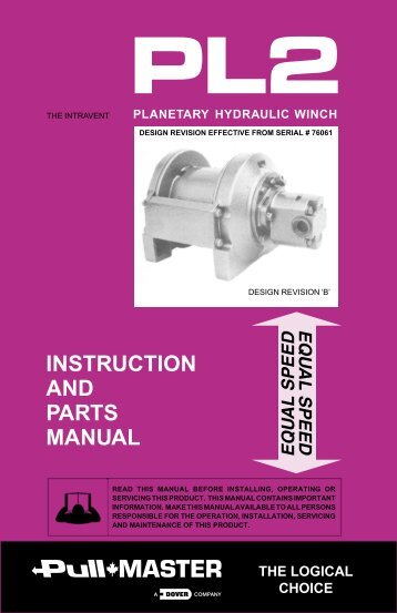 Model PL2 Service Manual - TWG