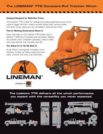 The LINEMAN® 7TR Constant-Pull Traction Winch - TWG
