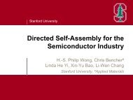 Directed Self-Assembly for the Semiconductor Industry - Sokudo