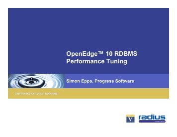 Progress - RDBMS Tuning - Radius