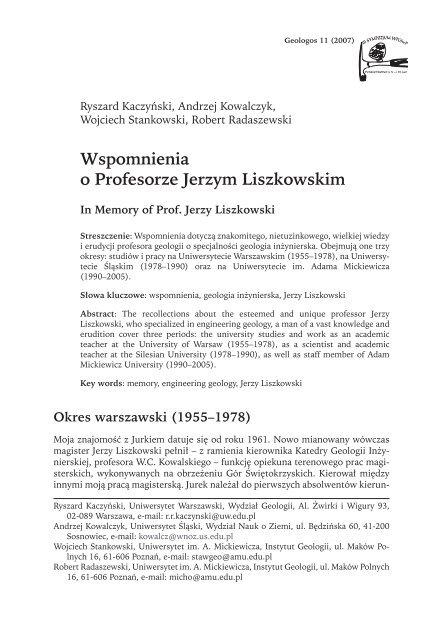 Geneza GOP, czynniki jego rozwoju i innowacyjności w XVIII i XIX wieku.