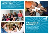 EQUALITY & DIVERSITY - Yeovil College