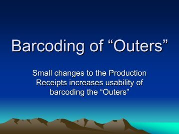 "Barcoding of ""Outers"" - Radius"