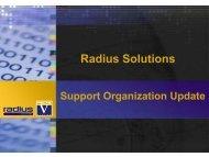 Support & Development Update - Radius