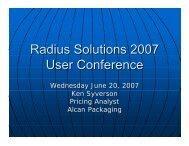 Alcan Packaging - Radius
