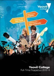 Welcome To Our Full-time Prospectus - Yeovil College