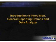 Introduction to Intervision, Data Analyzer and General ... - Radius