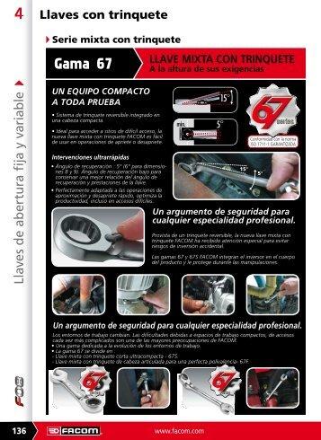 Descargar catálogo en PDF de *Llaves con trinquete - Pegamo