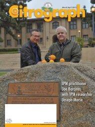 IPM practitioner Joe Barcinas with IPM researcher Joseph Morse