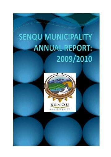 annual report - draft - Senqu Municipality