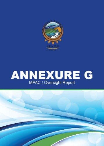 annual report - part 3 annexure g - Senqumunicipality.co.za