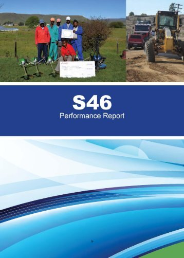 annual report - part 2 chapter 2 sdbip/s46 report - Senqu Municipality