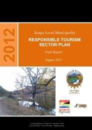 RESPONSIBLE TOURISM SECTOR PLAN - Senqu Municipality
