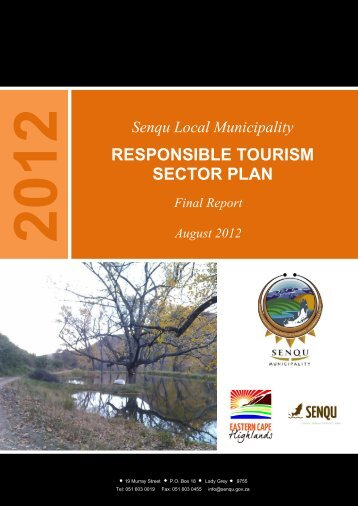 RESPONSIBLE TOURISM SECTOR PLAN - Senqu Municipality