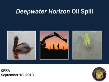 Deepwater Horizon Oil Spill - Coastal Protection and Restoration ...