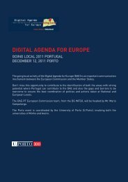 The going local activity of the Digital Agenda for Europe (DAE) is an ...