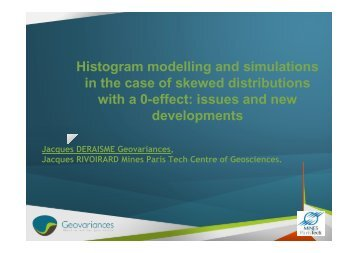 Histogram modelling and simulations in the case of skewed ...