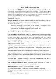 BOLSA DE INVESTIGAÇÃO (BI) (1 vaga) - Universidade do Porto