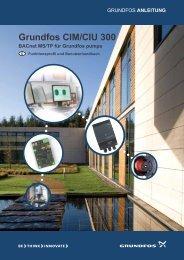ANLEITUNG Grundfos CIM/CIU 300 BACnet MS/TP für Grundfos ...
