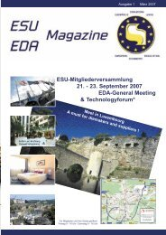 23. September 2007 EDA-General Meeting & Technologyforum - ESU