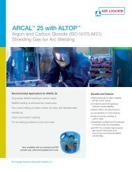 ARCAL 25 with ALTOP - Air Liquide America Specialty Gases