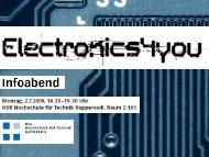 Ausblick auf das 2. Semester - Electronics4you