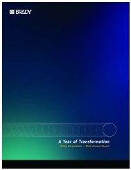 A Year of Transformation - Brady Corporation
