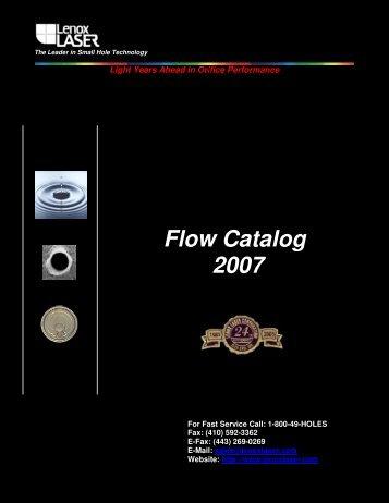 Flow Catalog 2007 - Lenox Laser