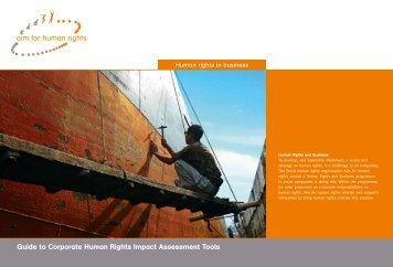 Guide to Corporate Human Rights Impact Assessment ... - LARRGE