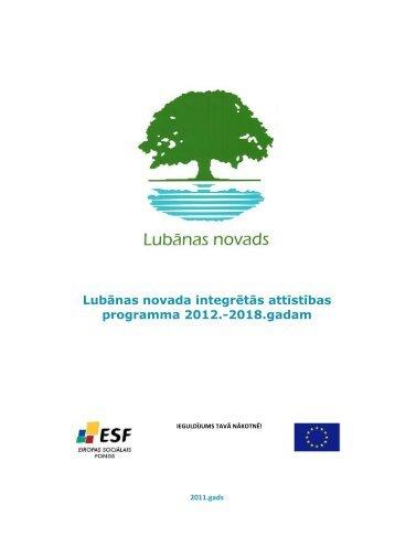 Lubānas novada integrētās attīstības programma ... - Lubānas novads