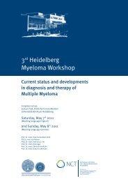 3rd Heidelberg Myeloma Workshop - UniversitätsKlinikum Heidelberg
