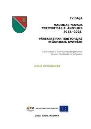 iv daļa madonas novada teritorijas plānojums 2013. - Madona.lv