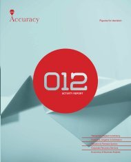View the report - Accuracy