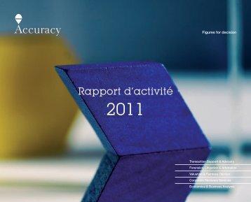 Rapport d'activité - Accuracy