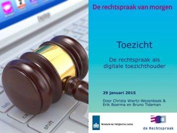 Workshop De rechtspraak als digitale toezichthouder - rechtspraak nl --