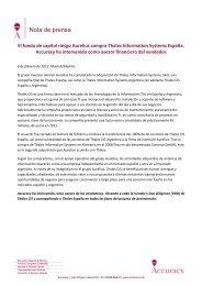 Accuracy asesora a Thales Information Systems España en su venta